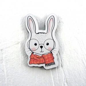 """Значок """"Кролик в очках"""""""