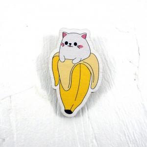 "Значок ""Кот в банане"""