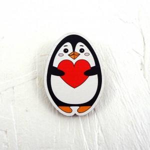 """Значок """"Пингвин с сердечком"""""""