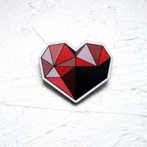 """Значок """"Рубиновое сердце"""""""