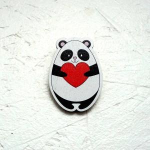 """Значок """"Панда с сердечком"""""""