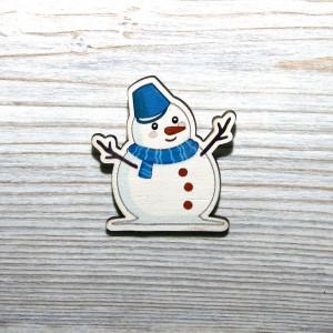"Значок ""Снеговик"""
